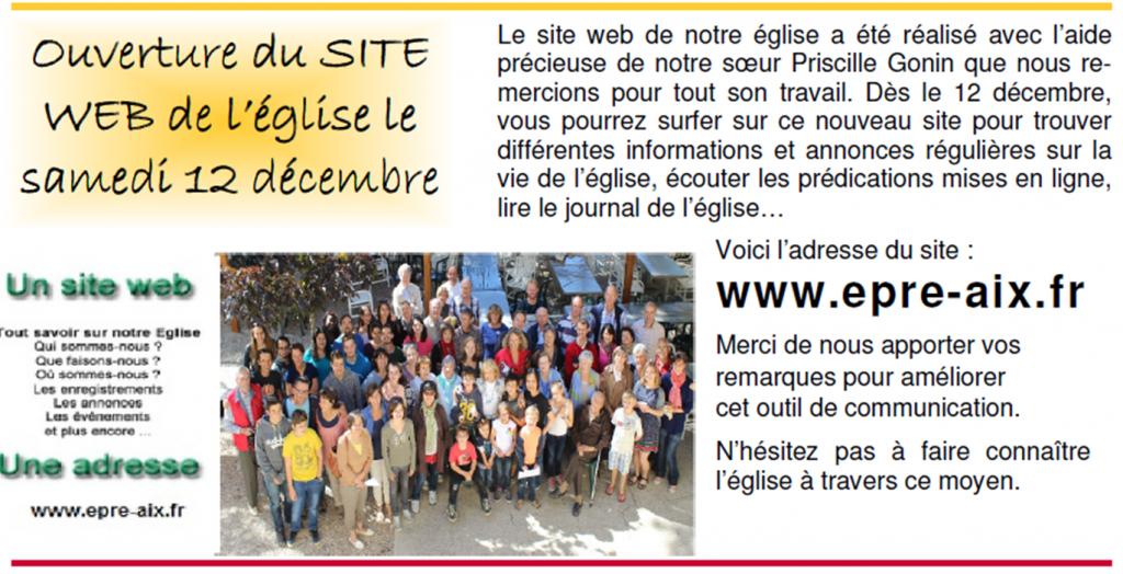 publicité ouverture site