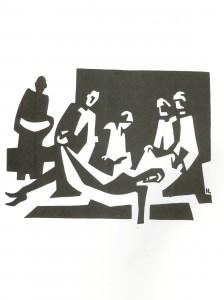 mise au tombeau- Lindegaard