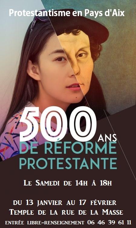affiche 500 ans protestantisme