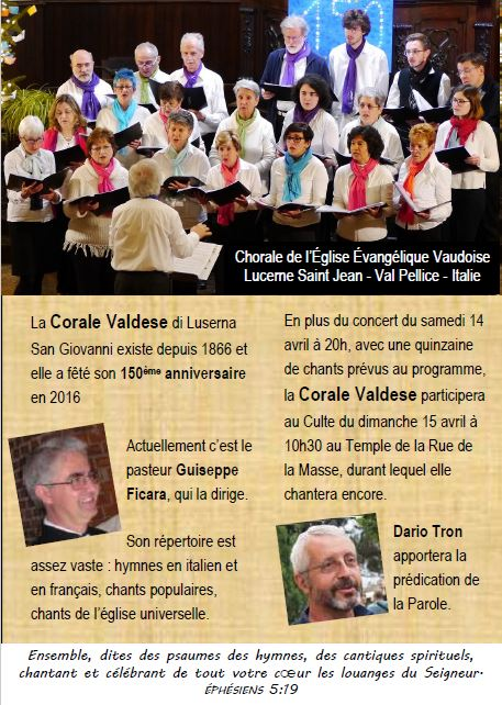 concert chorale vaudoise 14 avril 2018
